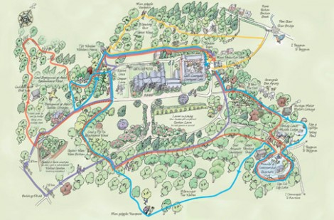 Gregynog Interactive Map